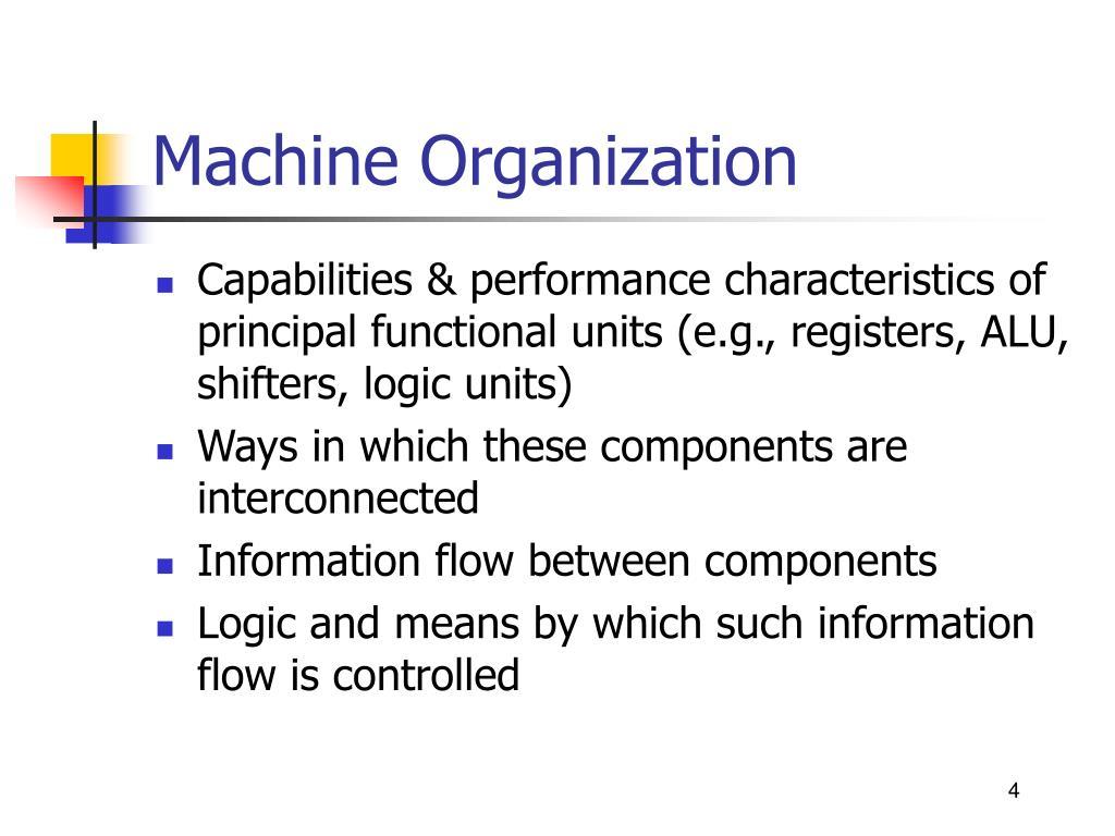Machine Organization