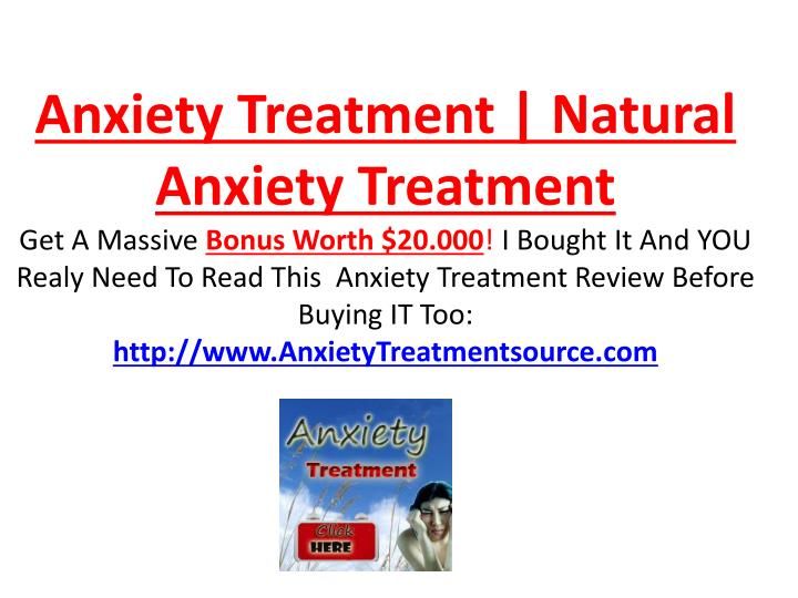 Anxiety Treatment | Natural Anxiety Treatment