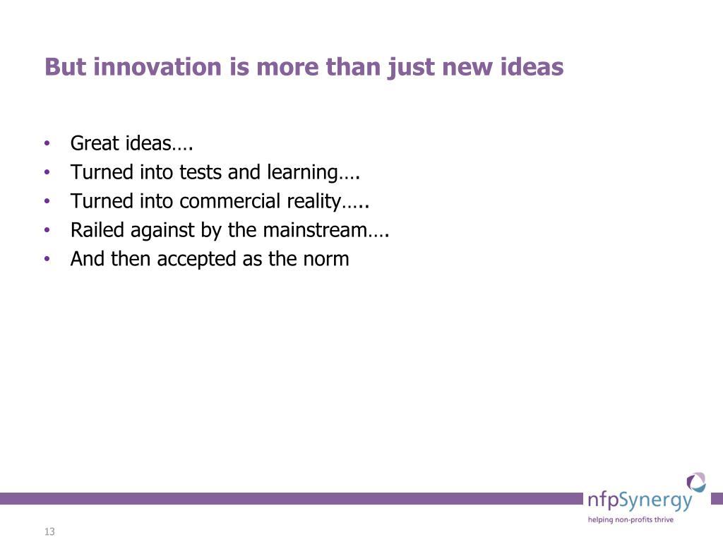 Great ideas….