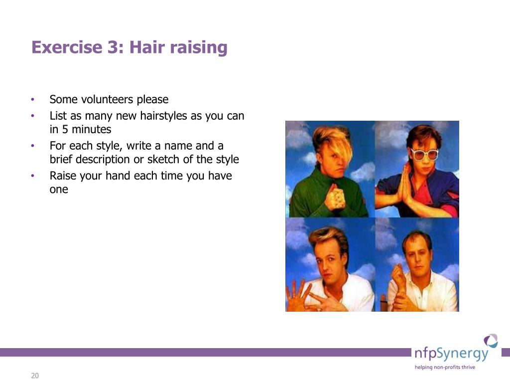 Exercise 3: Hair raising