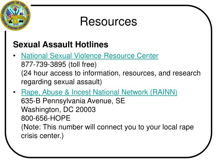 Sexual Assault Hotlines