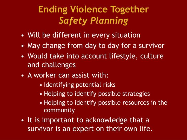 Ending Violence Together