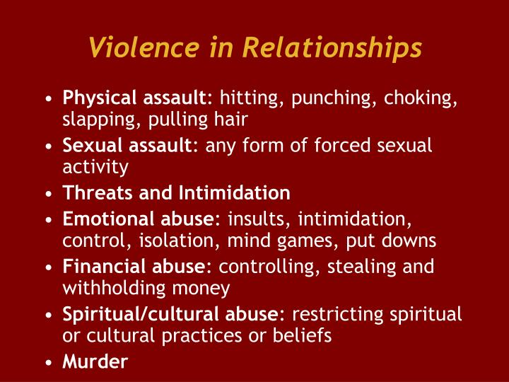 Violence in Relationships