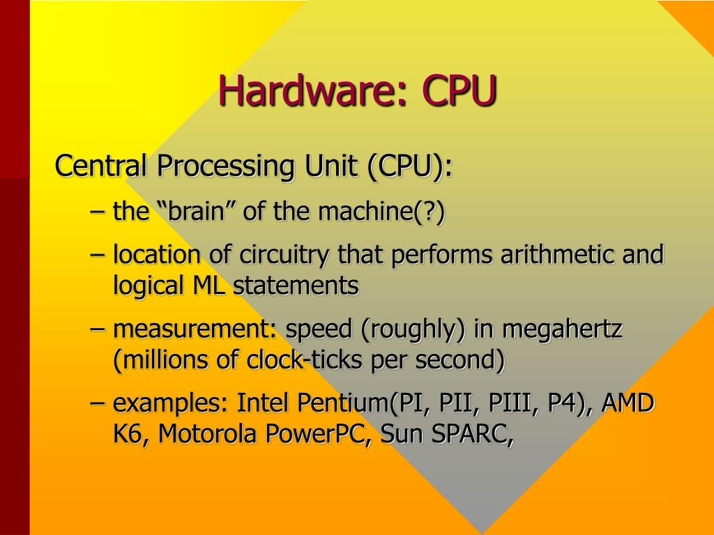 Hardware: CPU
