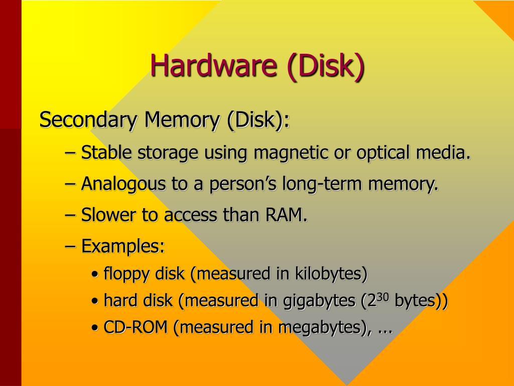 Hardware (Disk)