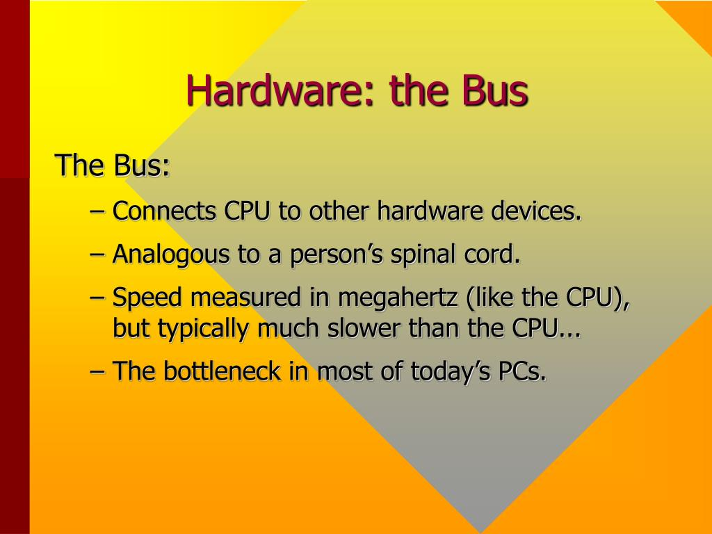 Hardware: the Bus