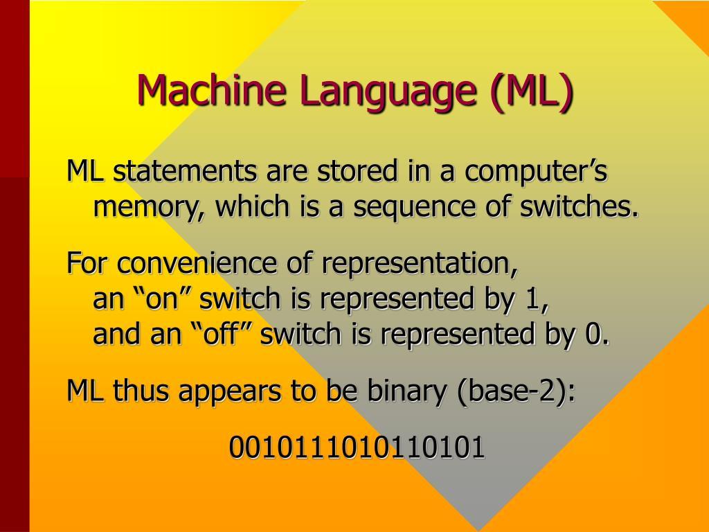 Machine Language (ML)