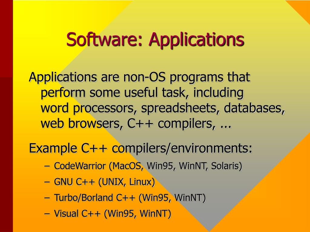 Software: Applications