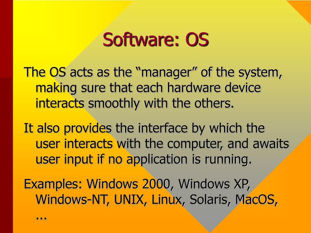 Software: OS