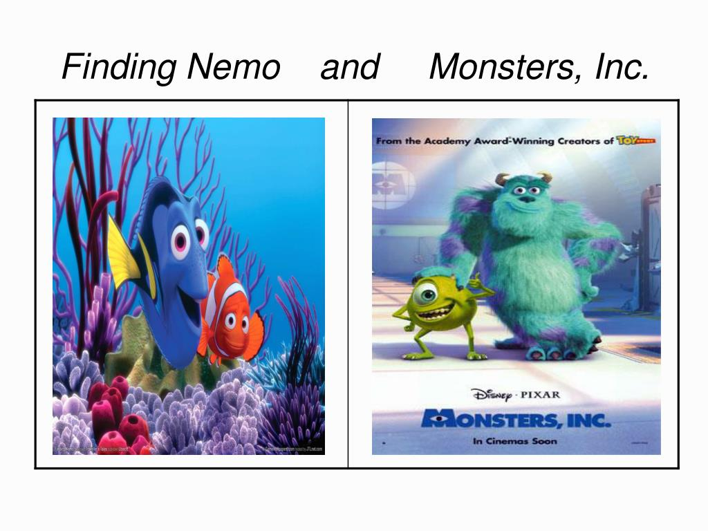 Finding Nemo    and     Monsters, Inc.