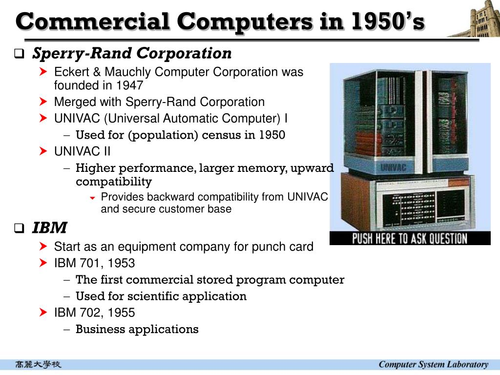 Commercial Computers in 1950