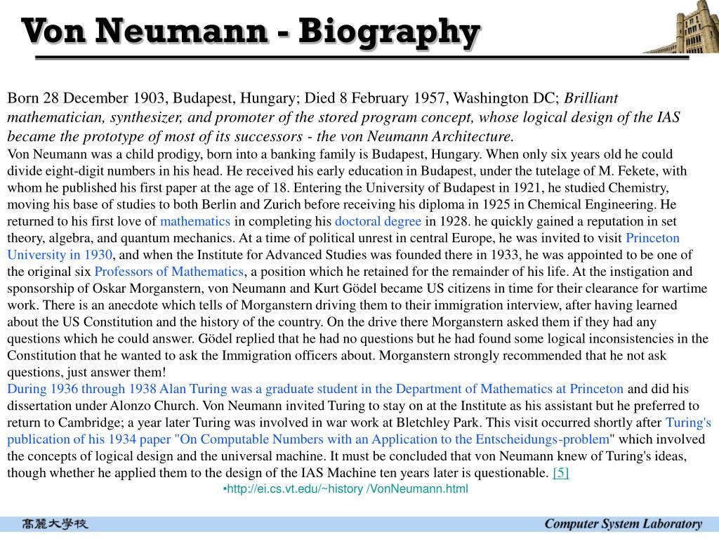 Von Neumann - Biography