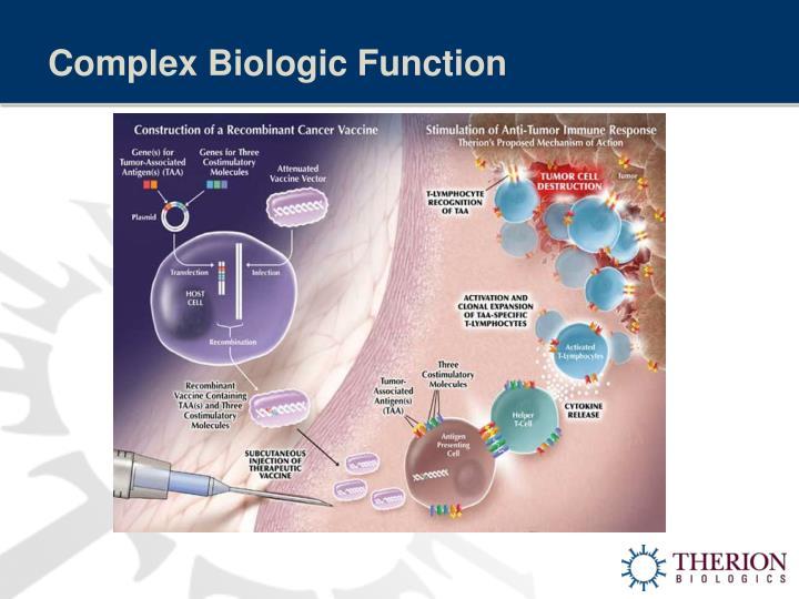 Complex Biologic Function