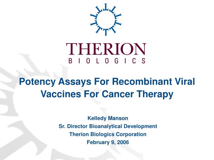 Potency Assays For Recombinant Viral Vaccines For Cancer Therapy