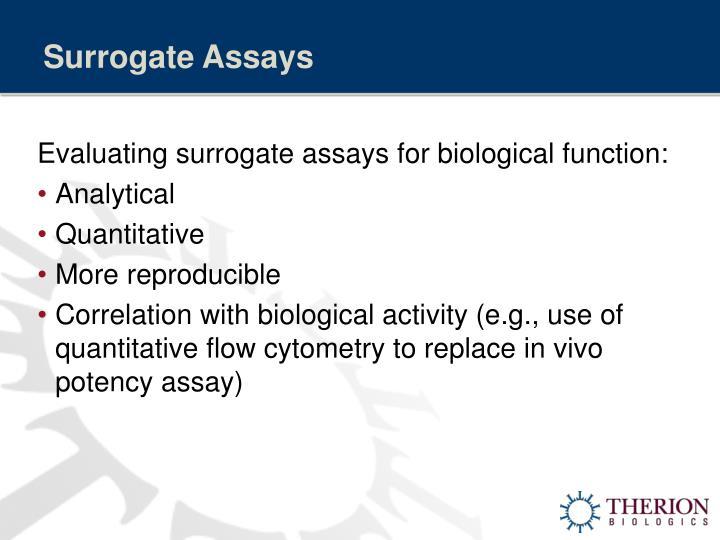 Surrogate Assays