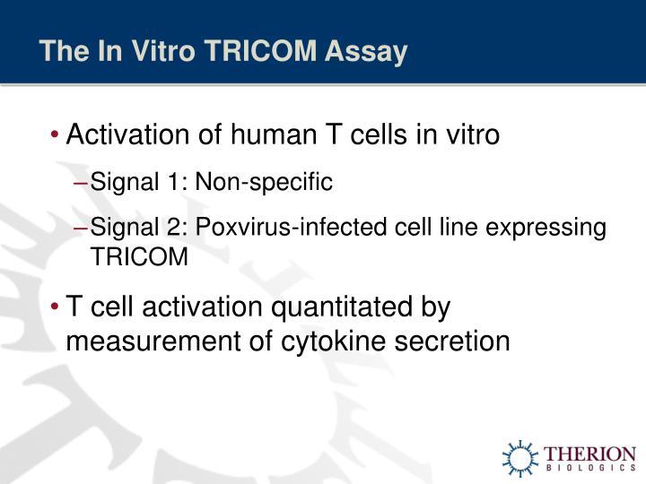 The In Vitro TRICOM Assay