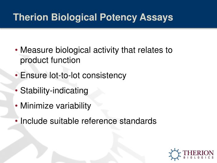 Therion Biological Potency Assays