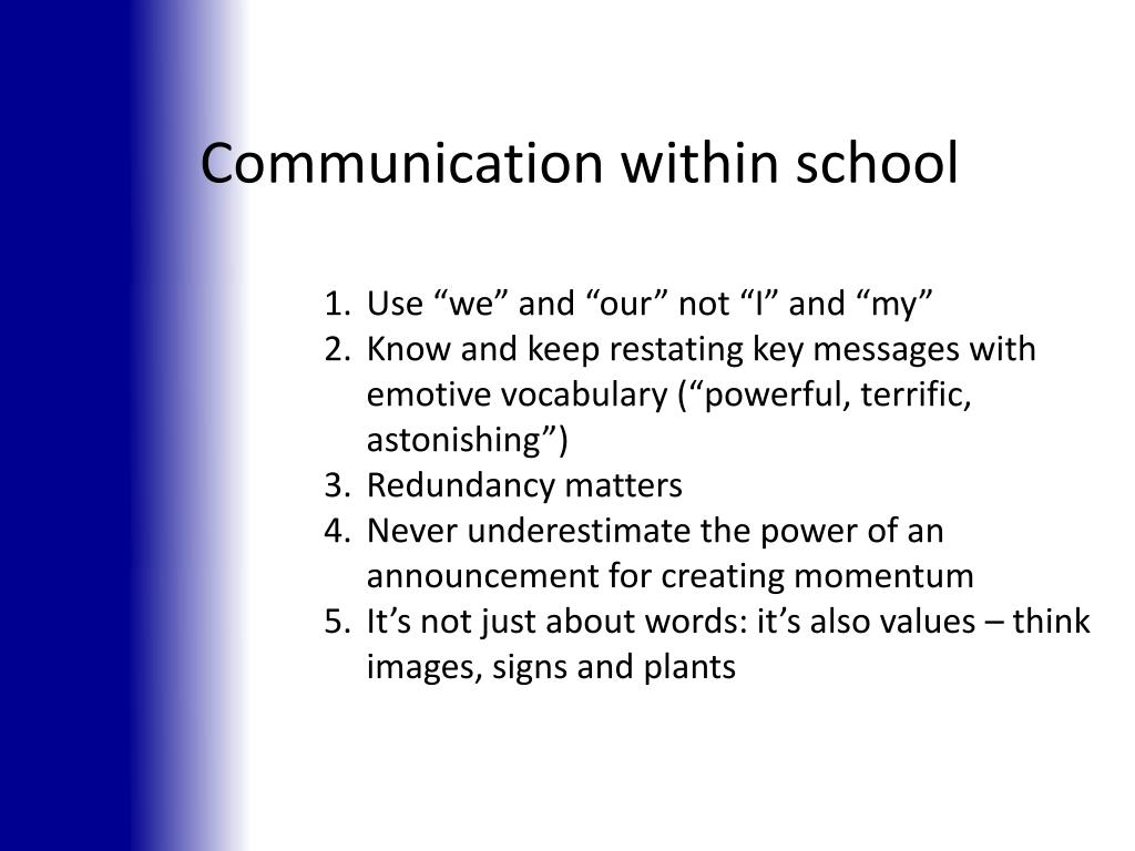Communication within school