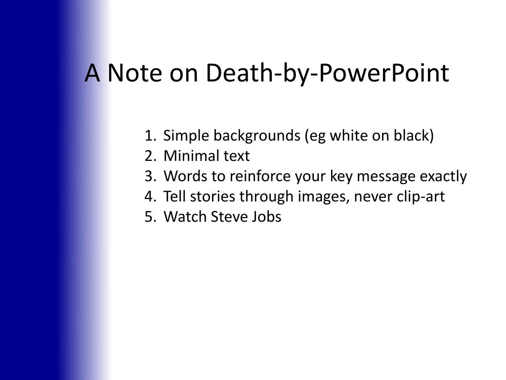 A Note on Death-by-PowerPoint