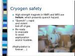 cryogen safety