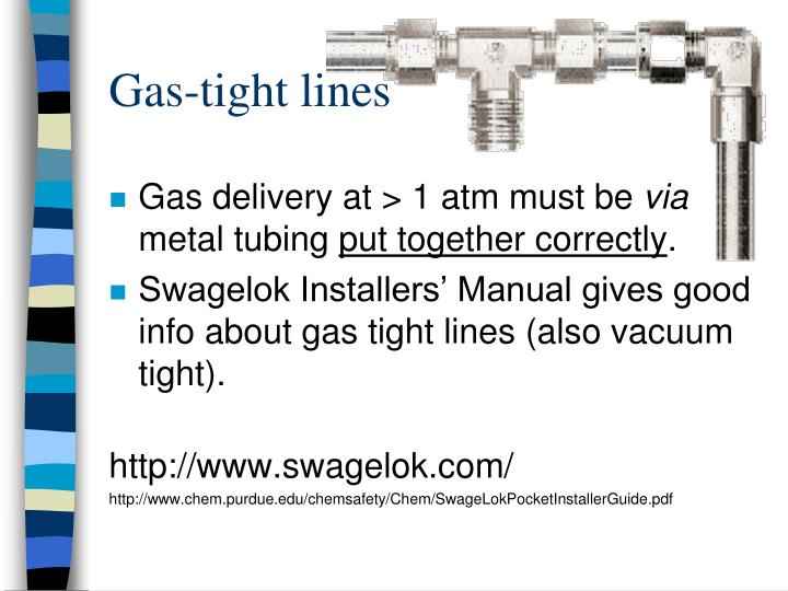 Gas-tight lines