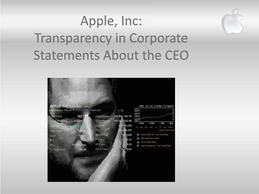 Apple, Inc: