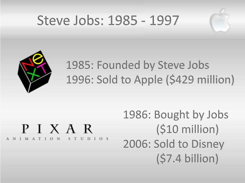 Steve Jobs: 1985 - 1997