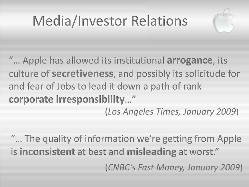 Media/Investor Relations