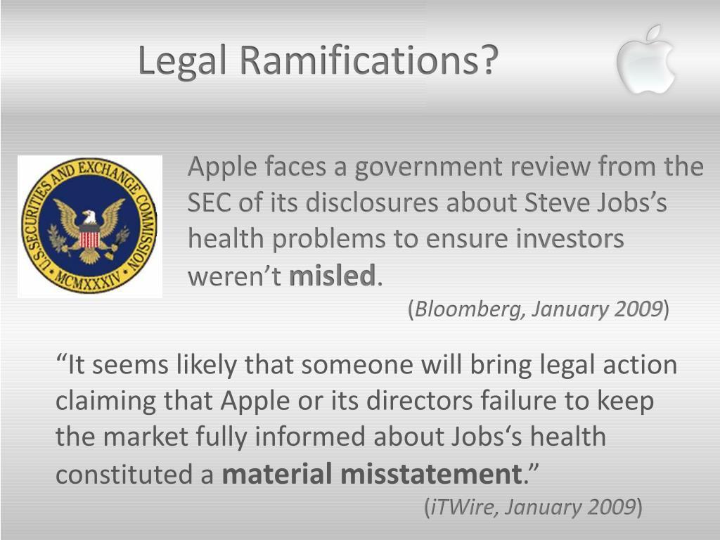 Legal Ramifications?