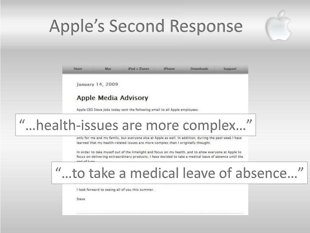 Apple's Second Response