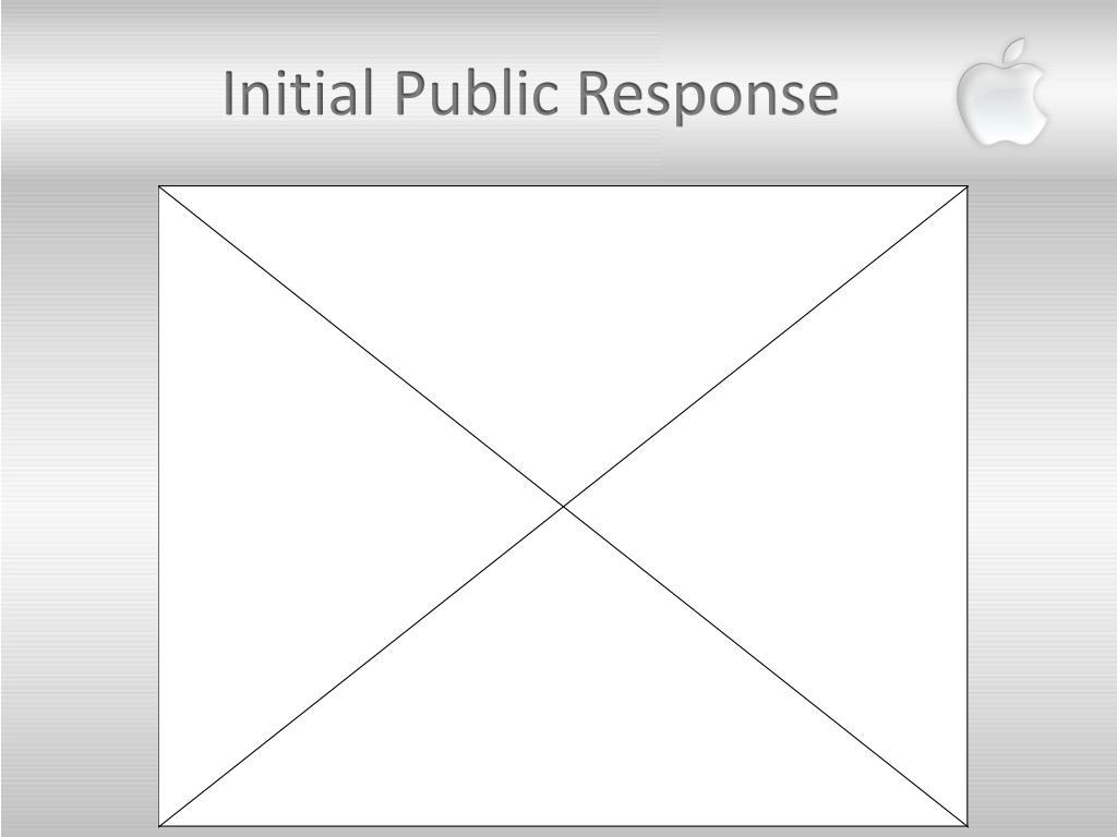 Initial Public Response
