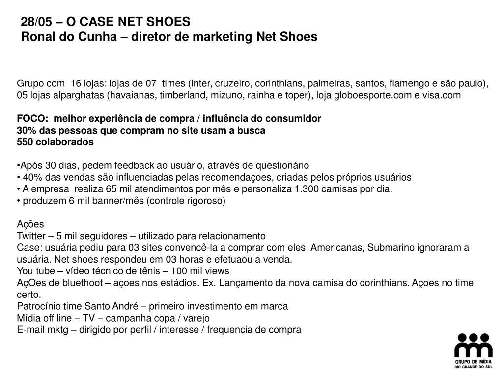 28/05 – O CASE NET SHOES