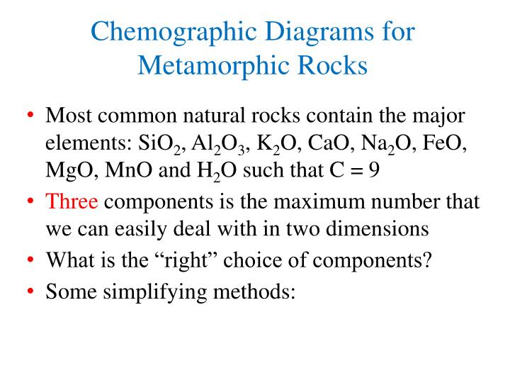 Chemographic Diagrams for Metamorphic Rocks