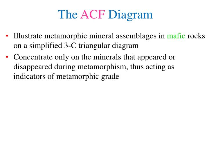 Illustrate metamorphic mineral assemblages in