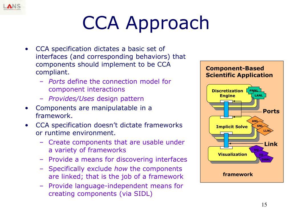 CCA Approach
