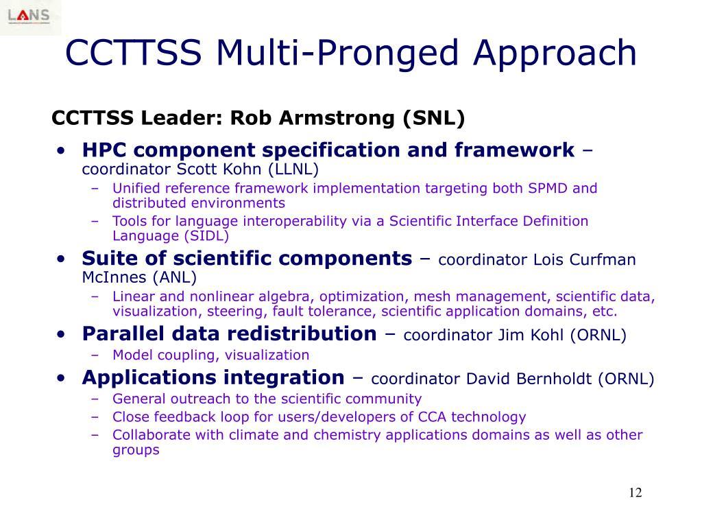 CCTTSS Multi-Pronged Approach