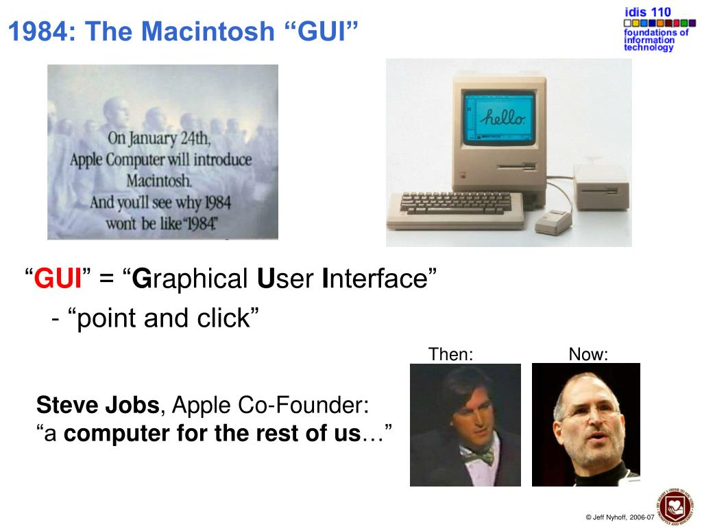 "1984: The Macintosh ""GUI"""