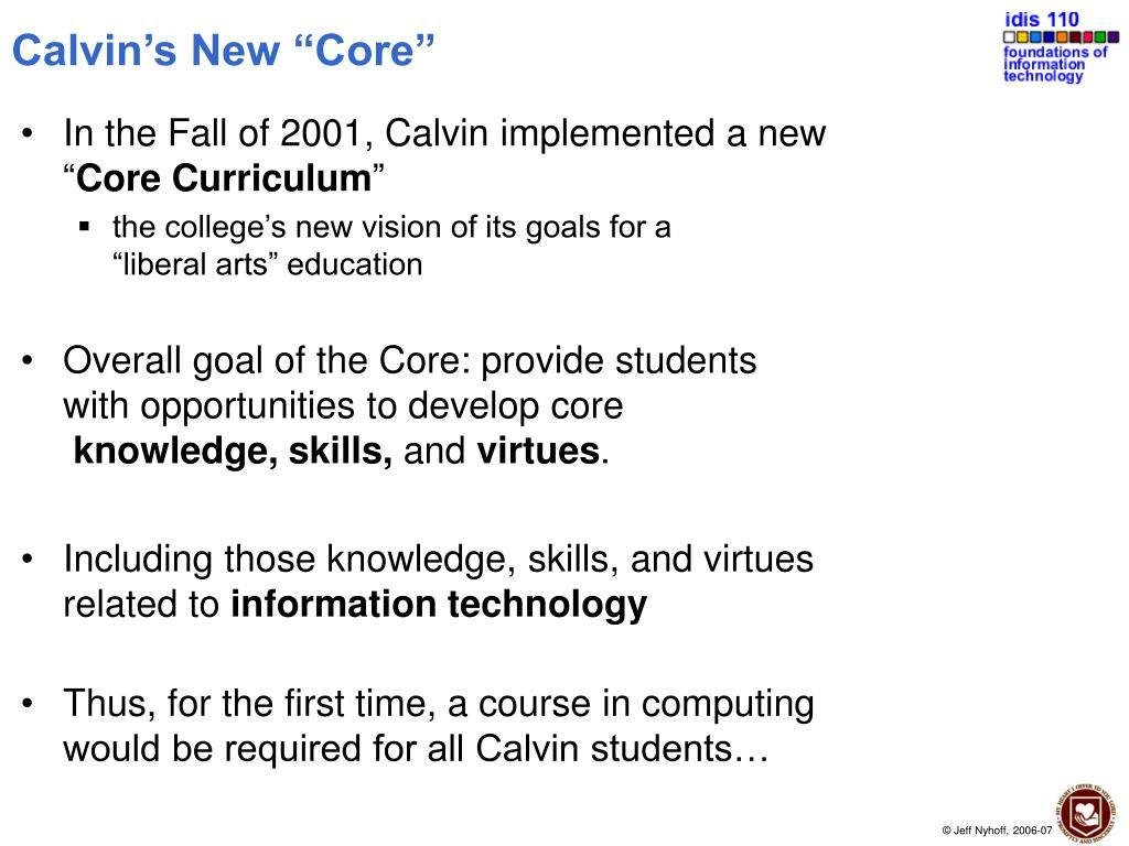 "Calvin's New ""Core"""