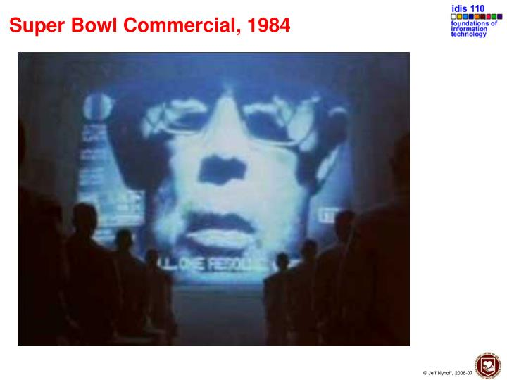 Super bowl commercial 1984