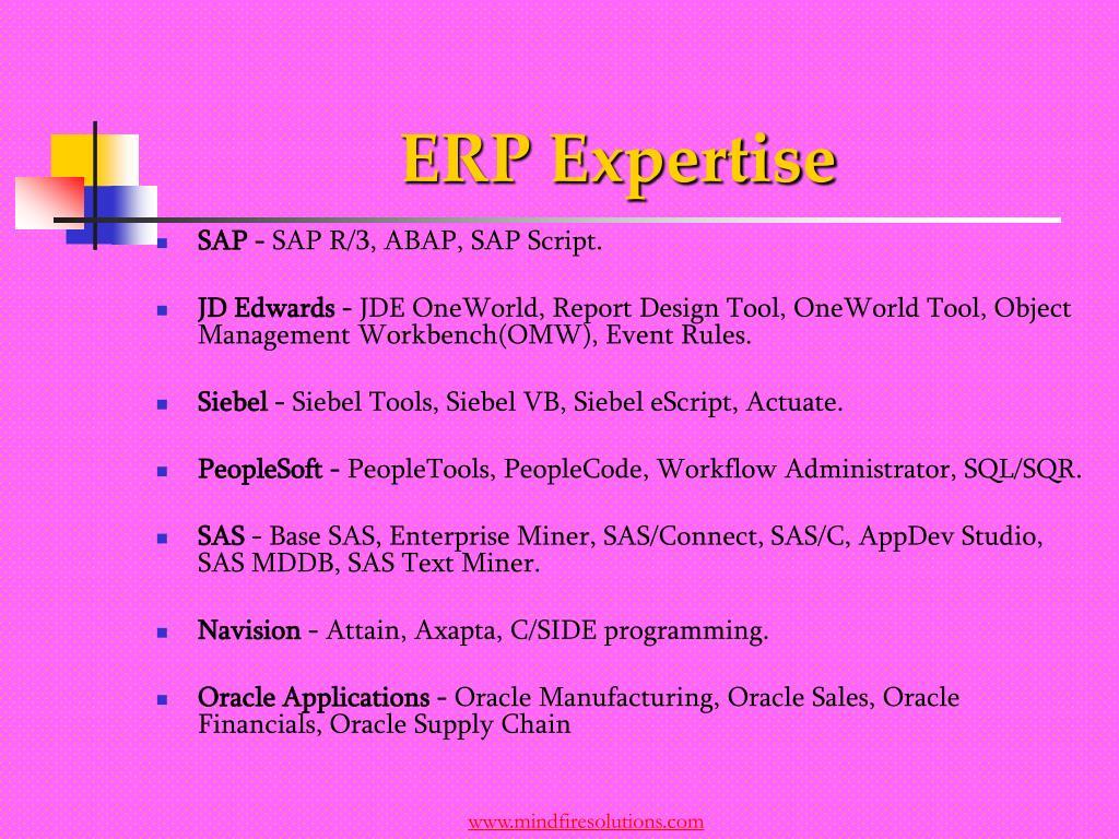 ERP Expertise