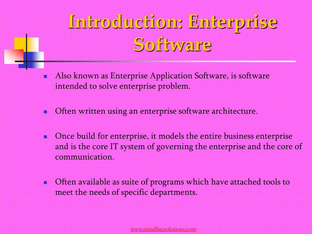 Introduction: Enterprise Software
