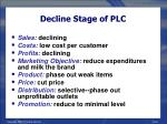 decline stage of plc