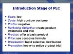 introduction stage of plc