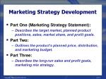 marketing strategy development