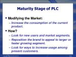 maturity stage of plc28