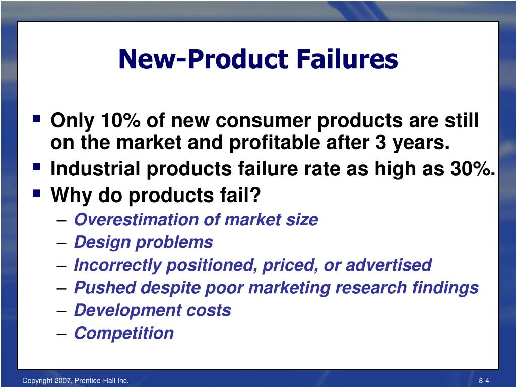 New-Product Failures