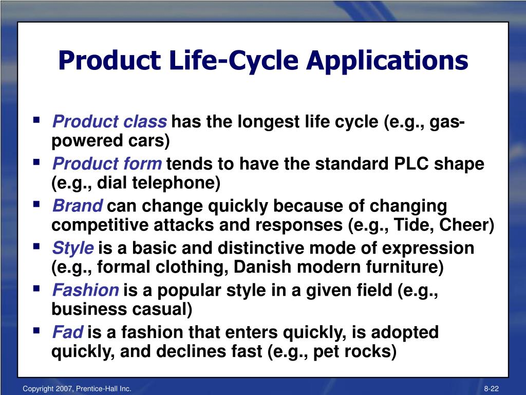 Product Life-Cycle Applications