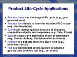 product life cycle applications