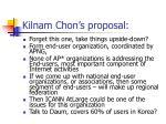kilnam chon s proposal