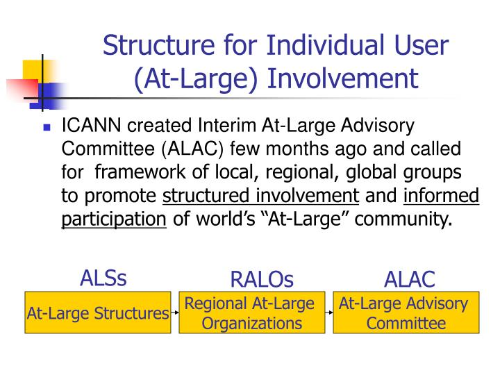 Structure for individual user at large involvement l.jpg